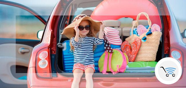 bambini a bordo con il lettore dvd portatile di areagroup