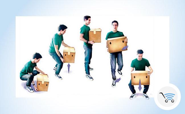 come sollevare un peso o un pacco