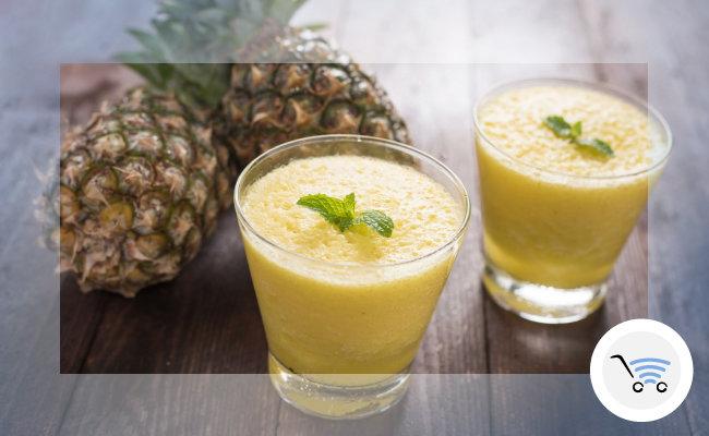 frullati homemade senza zucchero all'ananas