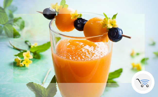 frullati homemade senza zucchero al melone e limone