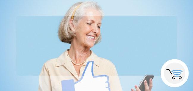 nonni social con il telefono Sileno